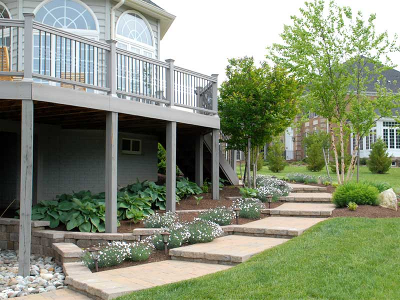 Dan 39 s lawn and landscaping portfolio landscape projects for Garden landscaping decking